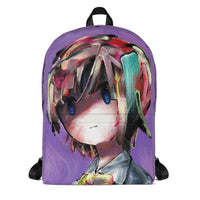 backpack purple aura front