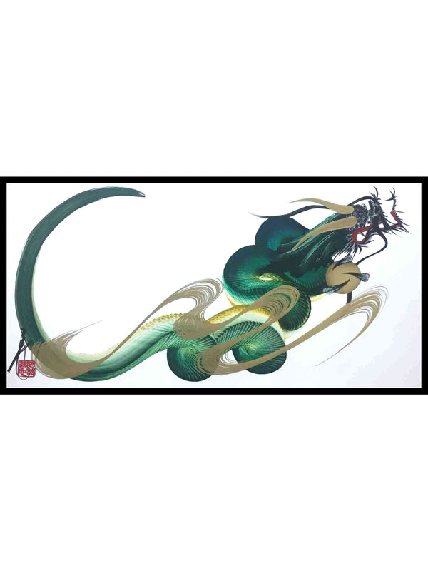 japanese dragon painting DRG W3 002 1