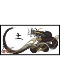 japanese dragon painting DRG W 0010 1