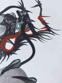 japanese dragon painting DRG W 0012 2
