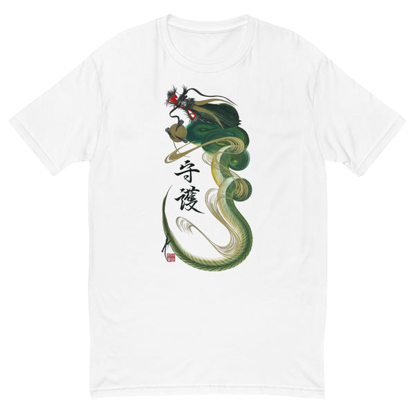 Green/yellow dragon t-shirt with