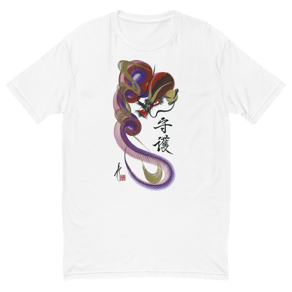 Red/violet dragon t-shirt with