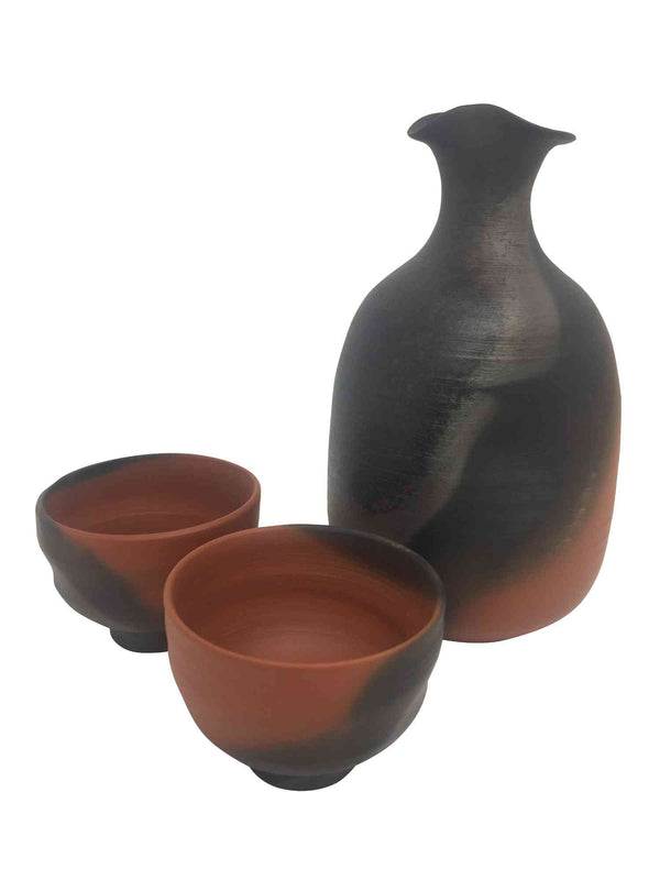mumyoi sake service black and ochre 1