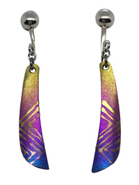 titanium earrings blade 1