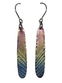 titanium earrings feather 1