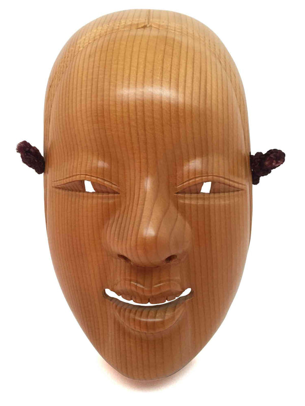 wooden noh theatre mask 1