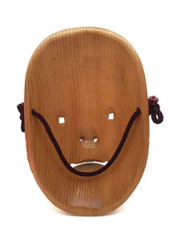 wooden noh theatre mask 6