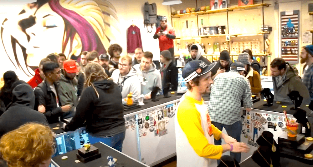 Busy stoked during sam lyons event