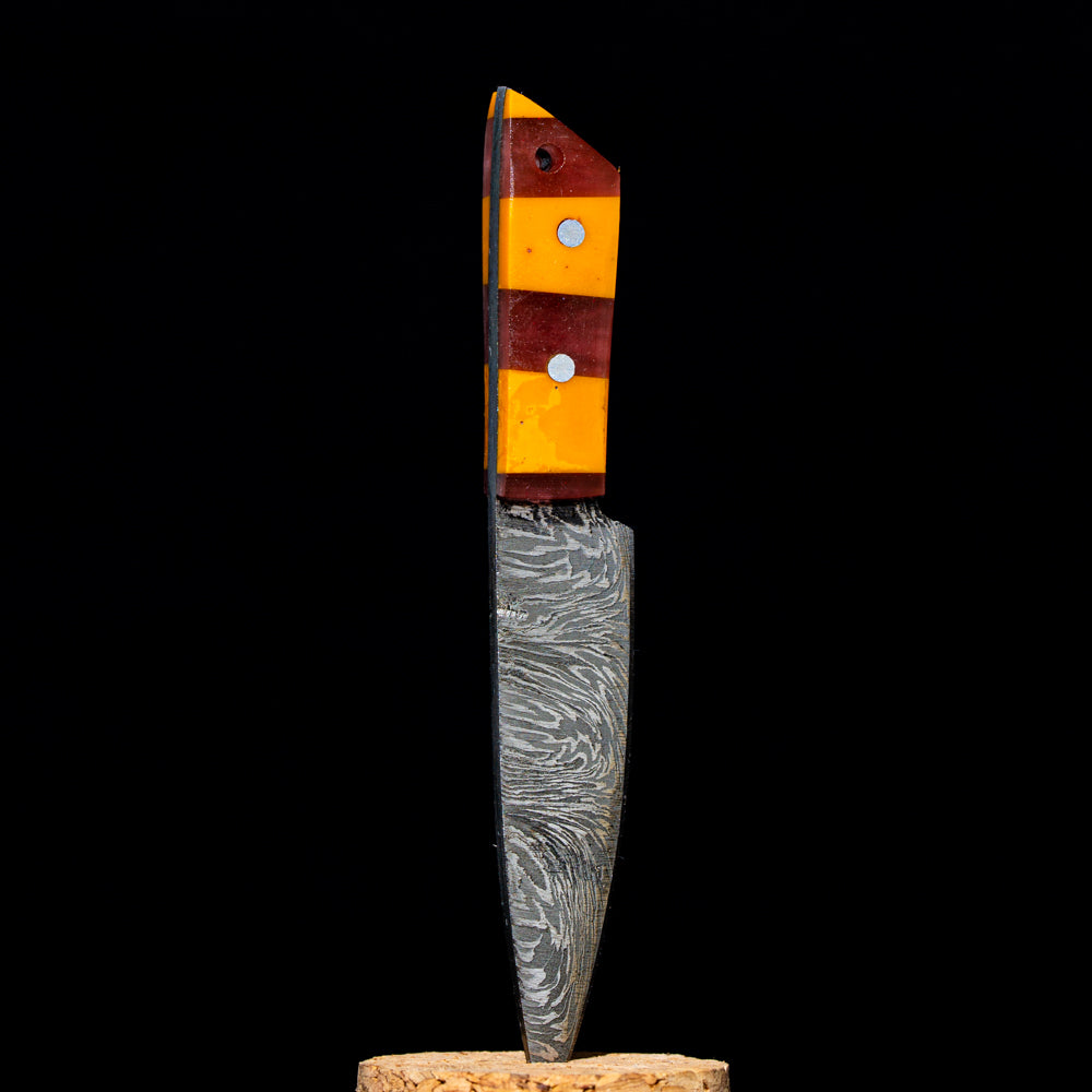 710 Sword/ Knife Dabbers - Orange and Maroon Carving