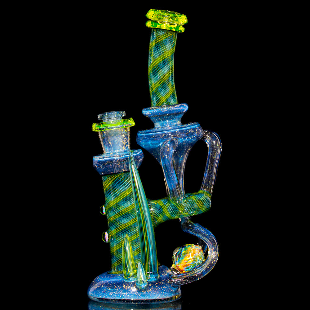 Crux Glass - Dichro Over Potion, Hydro Electric & Illuminati Fully Tricked Out Rebubbler