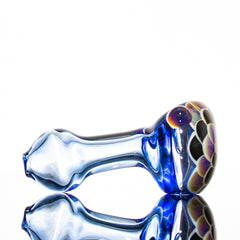 Hot Mess Glass - Amber Blue Dot Stack Spoon