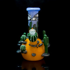 Grimm Glass x Greg Wilson Double Layer Cactus Rig with Carb Cap