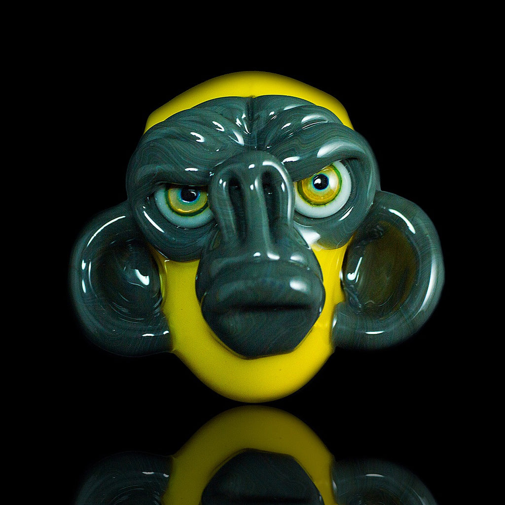 Coyle Portland Grey and Yellow Crayon Monkey Head Pendant