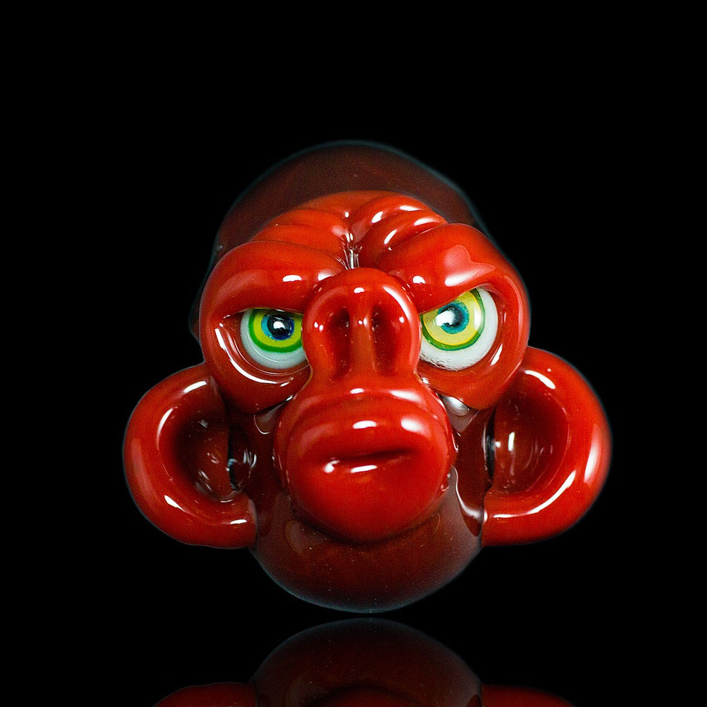 Coyle Red Crayon and Rust Monkey Head Pendant