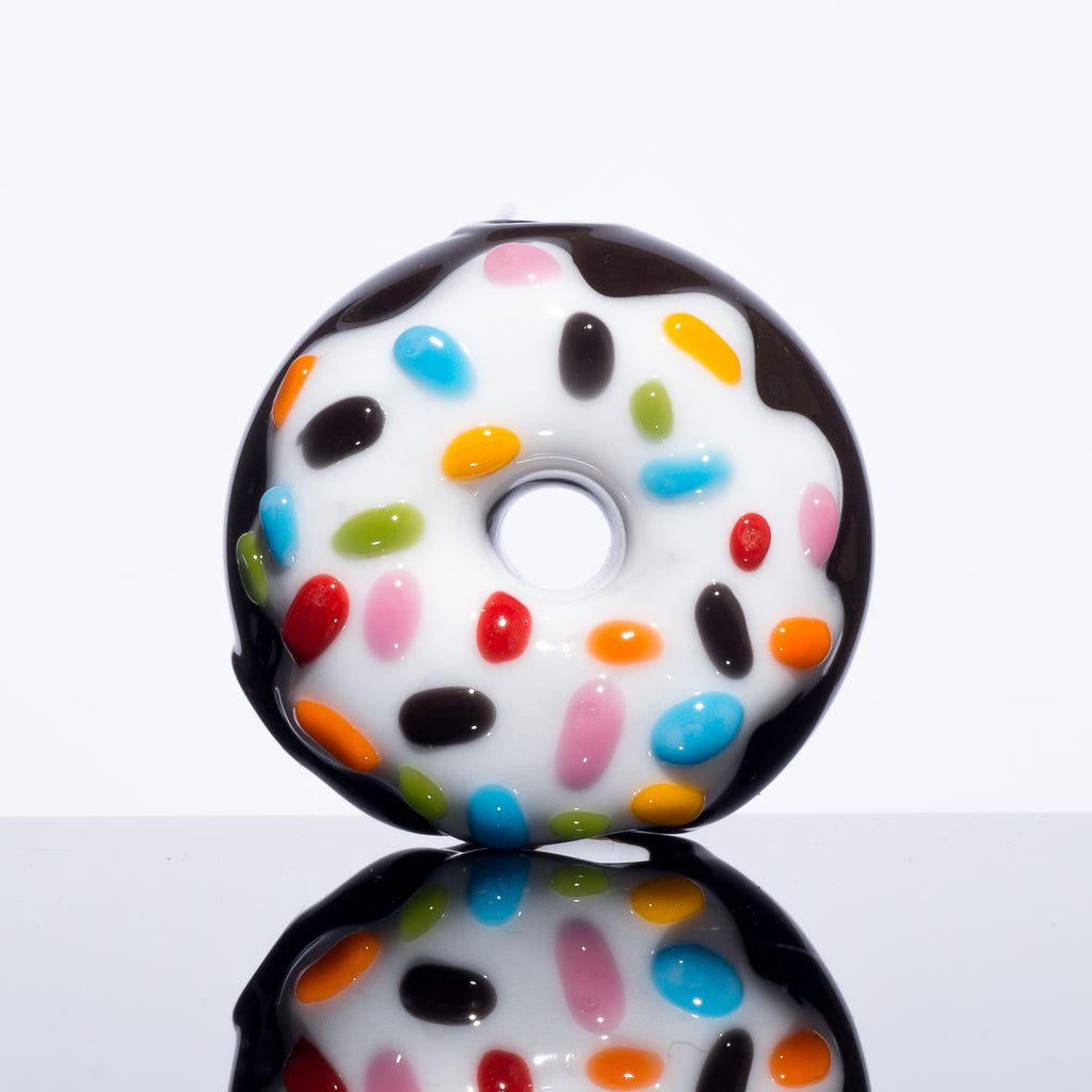 KGB Glass - Chocolate w/ Vanilla Frosted Sprinkles Mini Donut Pipe