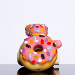 KGB Glass - Strawberry Frosted Sprinkles Donut Jar Lock