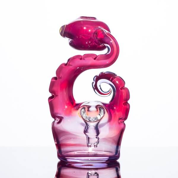 back product shot of glass nano snake by Niko Cray in phoenix