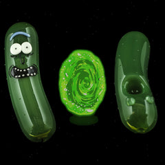 I Love Frank Glass Pickle Rick Pipe
