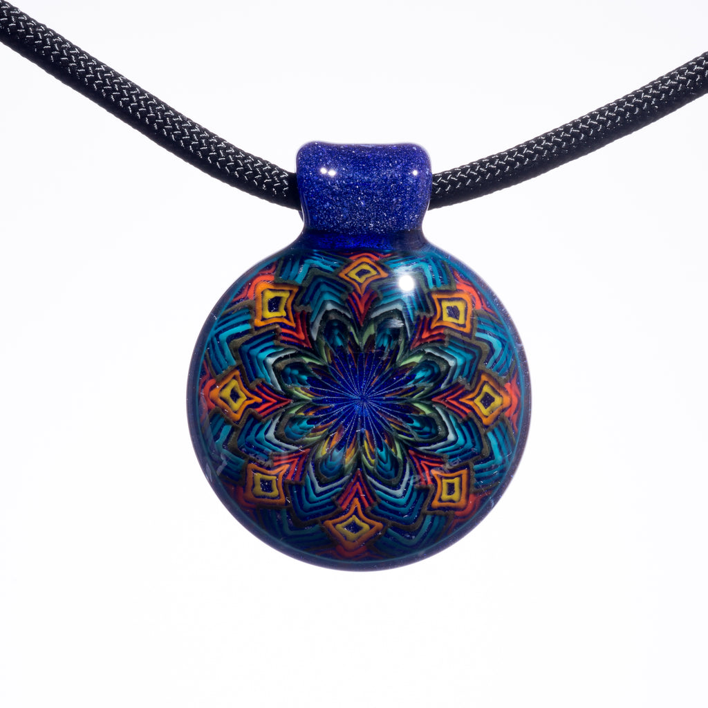 Reed Blue Blizzard Ball Pendant #1