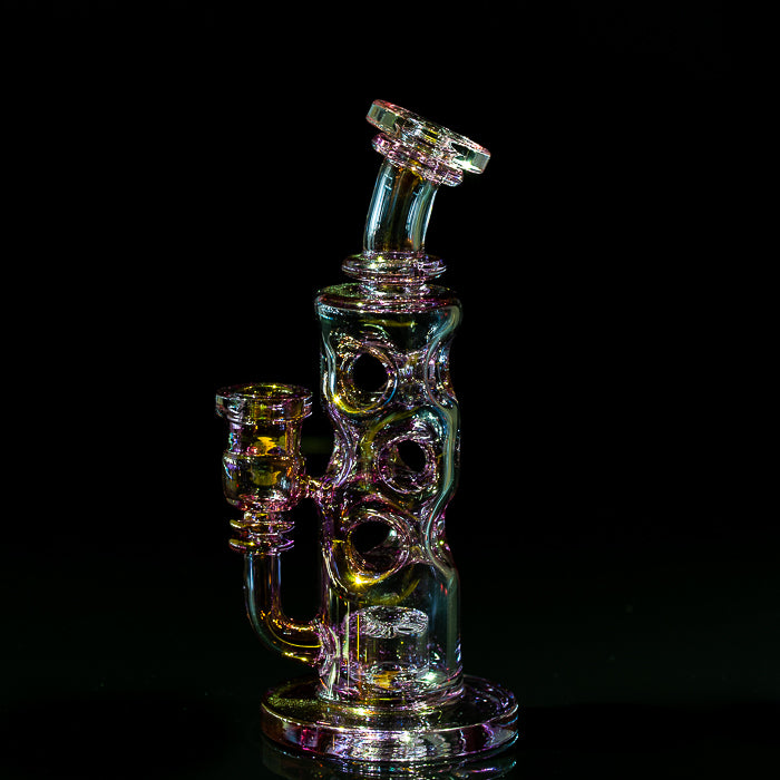 Slate Glass Gold Fume Straight Fab Rig