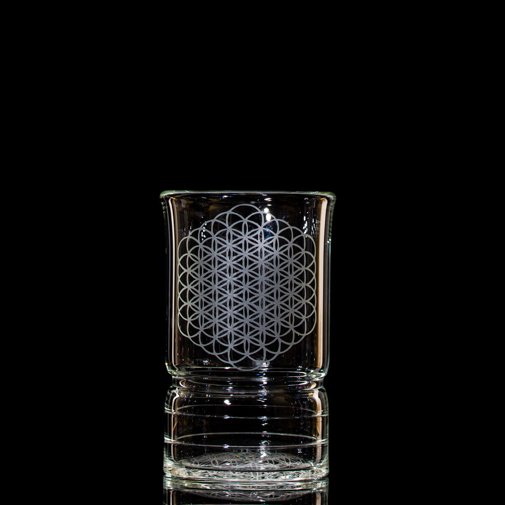 Slate Glass Small Cup - Clear