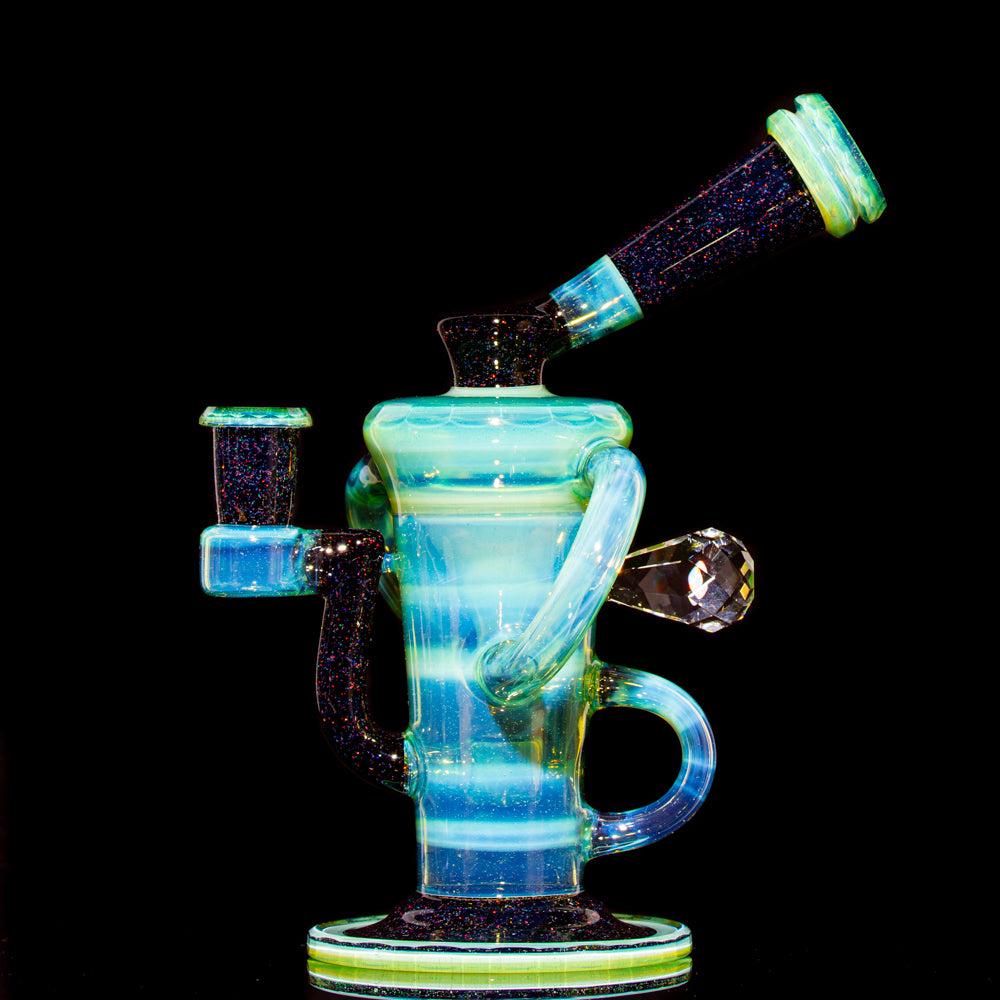 Stevie P - Faceted Sea Slyme, Crushed Opal & Jet Black Double Uptake Recycler