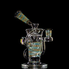 Stevie P - Rainbow Retti Faceted Double Uptake Klein Recycler