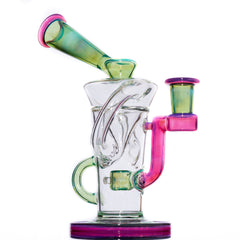 Stevie P - Plantphibian/Telemagenta Double Uptake Klein Recycler w/ Matching Bubble Cap