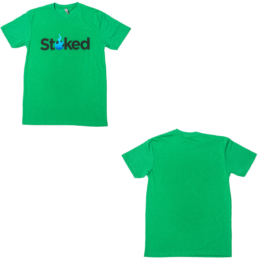 Stoked Apparel - Kelly Green T-Shirt
