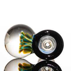 Mustard Single Marble 14mm Slide Fade to Black