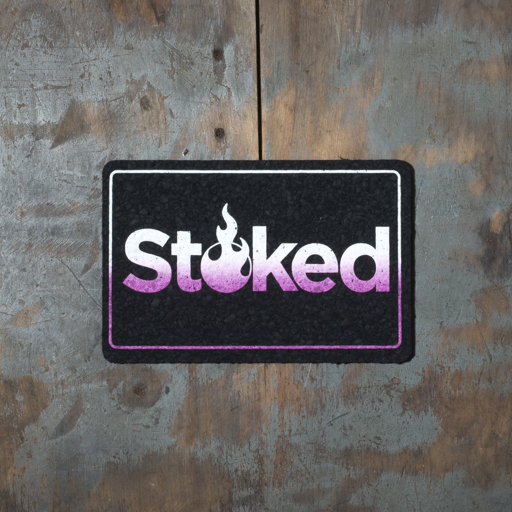 "Stoked 8""x5"" White & Purple Vice City Mood Mat"