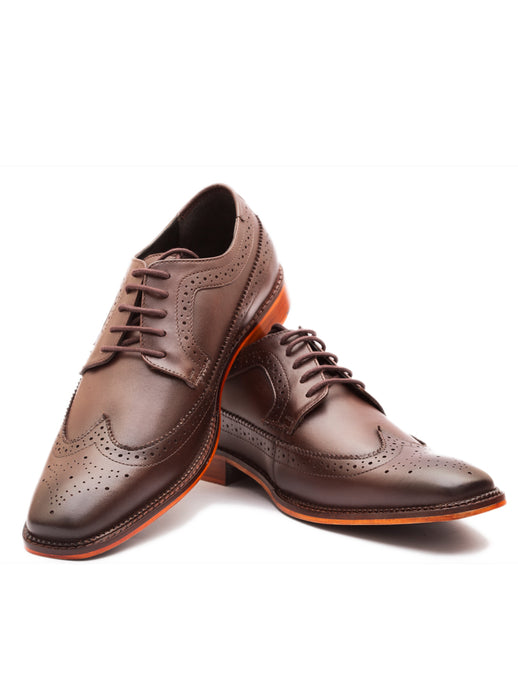 The Vintage Brown Wingtip Derby