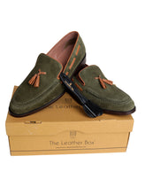 Load image into Gallery viewer, The Charmer Olive Tasseled Loafers