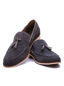 The Charmer Navy Tasseled Loafer