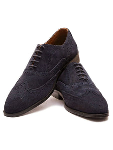 The Blue Blooded Navy Suede Oxford