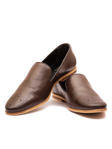 The Debonair Brown Brogue Loafers