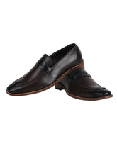 Load image into Gallery viewer, Debonair Choco Cognac Loafer with Black Trims