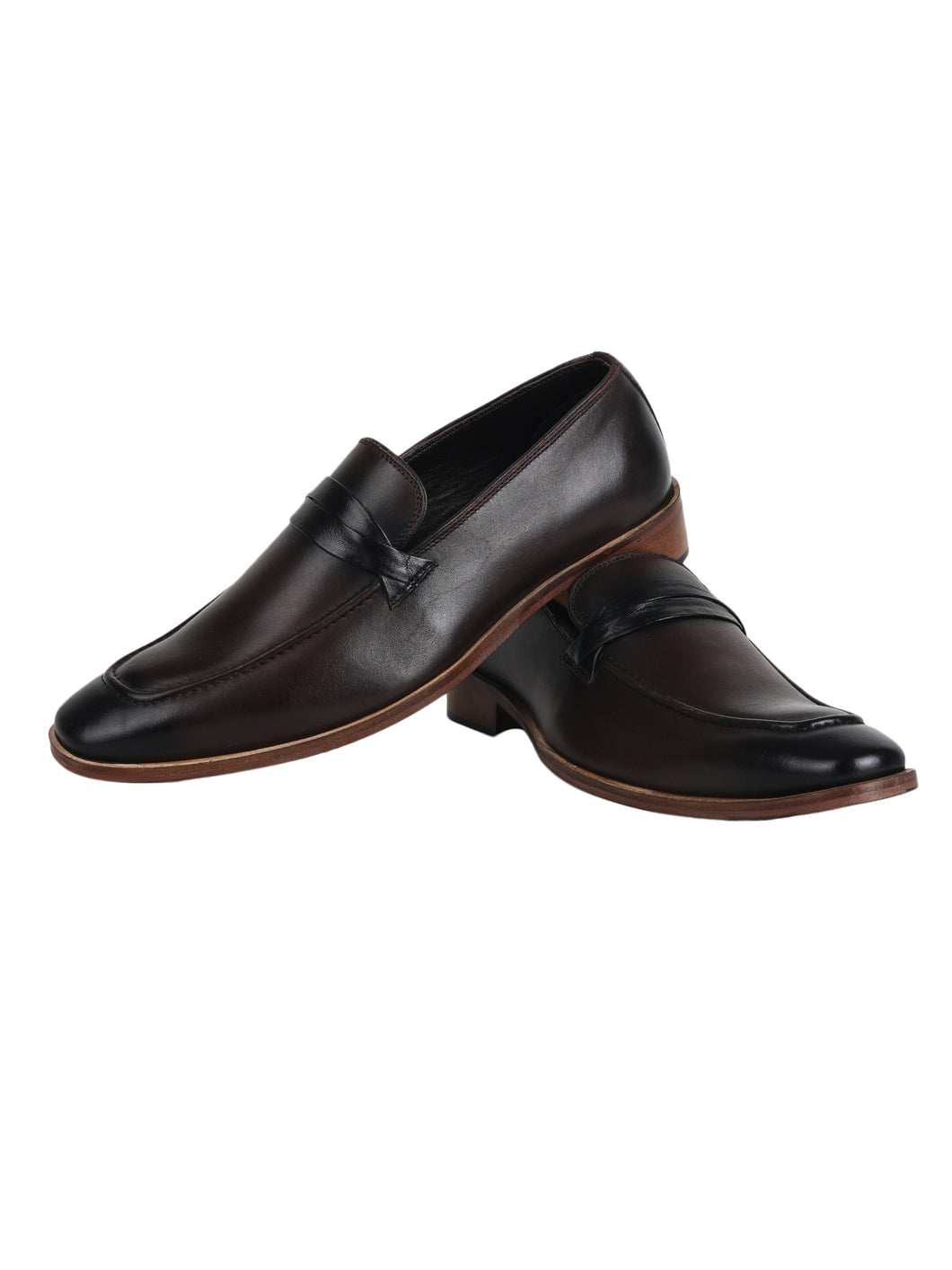 Debonair Choco Cognac Loafer with Black Trims