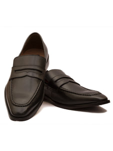 The Urbane Black Penny Loafers