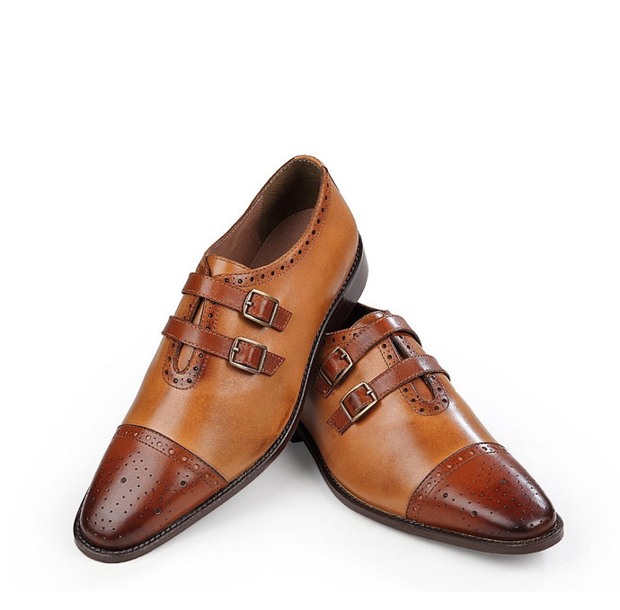 The Colonial Dual Tan Monkstrap