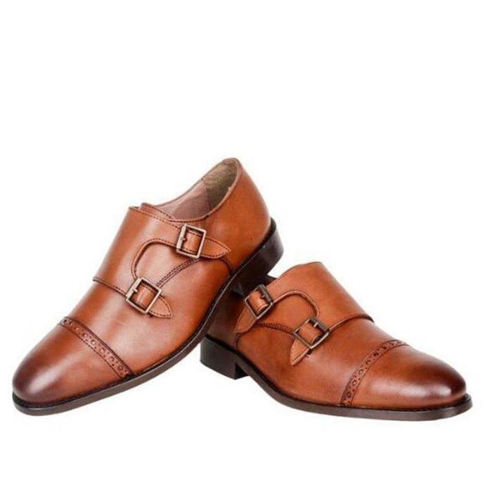 The Artistic Tan Double Monkstrap