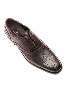 The Perfectionist Black Wing Tip Full Brogue