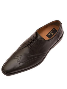The Minimalist Wing Tip Black Derby