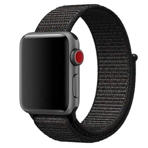 Apple Smartwatch bandje voor 4 3 2 en 1 in verschillende kleuren Apple Watch black red / 38mm / 40mm Korting