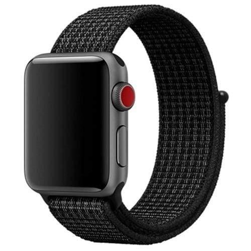 Apple Smartwatch bandje voor 4 3 2 en 1 in verschillende kleuren Apple Watch black white / 38mm / 40mm Korting