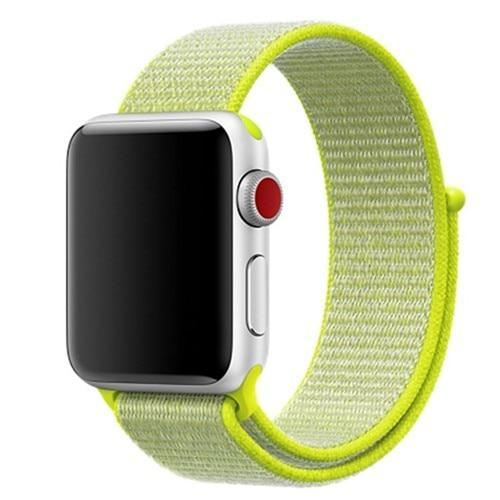 Apple Smartwatch bandje voor model 4 3 2 en 1 in verschillende kleuren Apple Watch flash light / 38mm / 40mm Korting