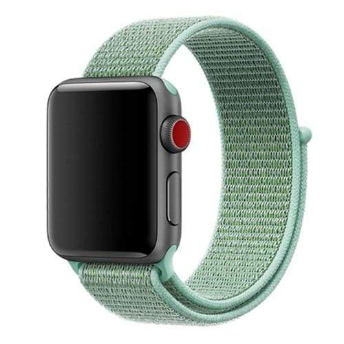 Apple Smartwatch bandje voor model 4 3 2 en 1 in verschillende kleuren Apple Watch marine green / 38mm / 40mm Korting