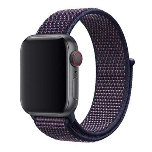 Apple Smartwatch bandje voor model 4 3 2 en 1 in verschillende kleuren Apple Watch NEW Indigo / 38mm / 40mm Korting