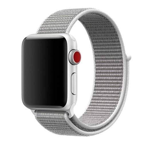 Apple Smartwatch bandje voor model 4 3 2 en 1 in verschillende kleuren Apple Watch Pearl / 38mm / 40mm Korting