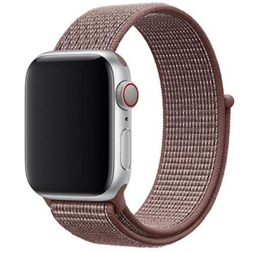 Apple Smartwatch bandje voor model 4 3 2 en 1 in verschillende kleuren Apple Watch Smokey Mauve / 38mm / 40mm Korting